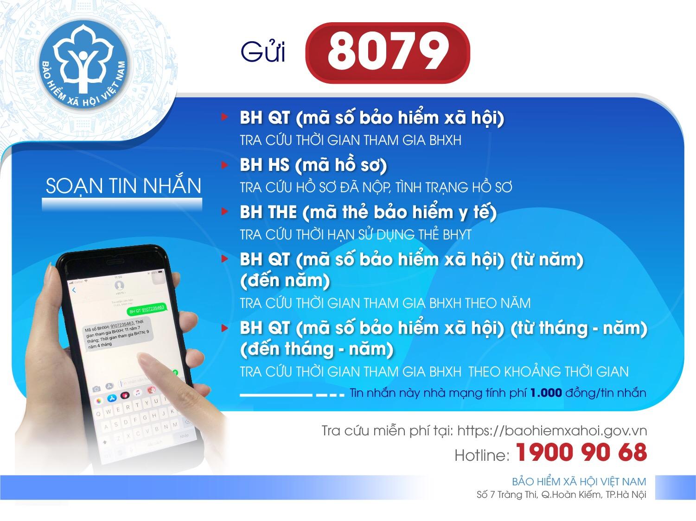 Dịch vụ tin nhắn tra cứu trong lĩnh vực BHXH, BHYT của BHXH Việt Nam.  Đẩy mạnh giao dịch điện tử