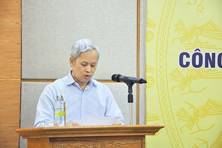 Tổng cục trưởng Tổng cục Thống kê Nguyễn Bích Lâm chủ trì buổi Họp báo. Nguồn ảnh: Tổng cục Thống kê