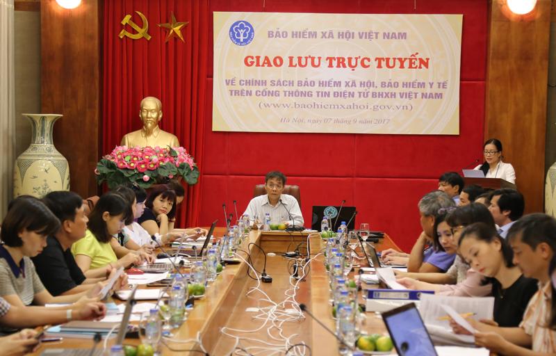 Chuẩn bị giao lưu trực tuyến trên Cổng Thông tin điện tử BHXH Việt Nam